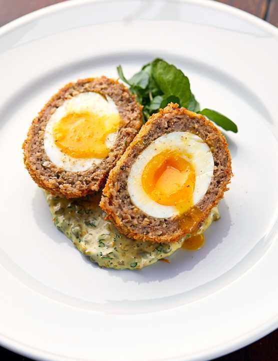 Scotch egg | The Holborn Dining Room #scotcheggs The humble scotch egg is one of The Holborn Dining Rooms most popular starters. Here, chef Calum Franklin serves it with a quick and easy caper mayo. #scotcheggs Scotch egg | The Holborn Dining Room #scotcheggs The humble scotch egg is one of The Holborn Dining Rooms most popular starters. Here, chef Calum Franklin serves it with a quick and easy caper mayo. #scotcheggs