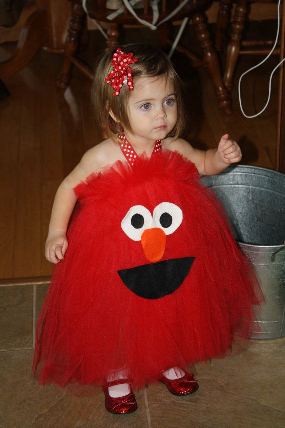 elmo inspired halloween costume tutu dress for by shoppe3130 via etsy - Halloween Costumes Elmo