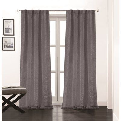 Rosdorf Park Bryce Solid Room Darkening Thermal Rod Pocket Curtain Panels Colour Charcoal In 2020 Panel Curtains Curtains Rod Pocket Curtain Panels
