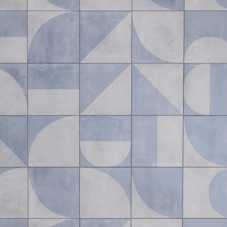 brando blue 8x8 matte porcelain tile in
