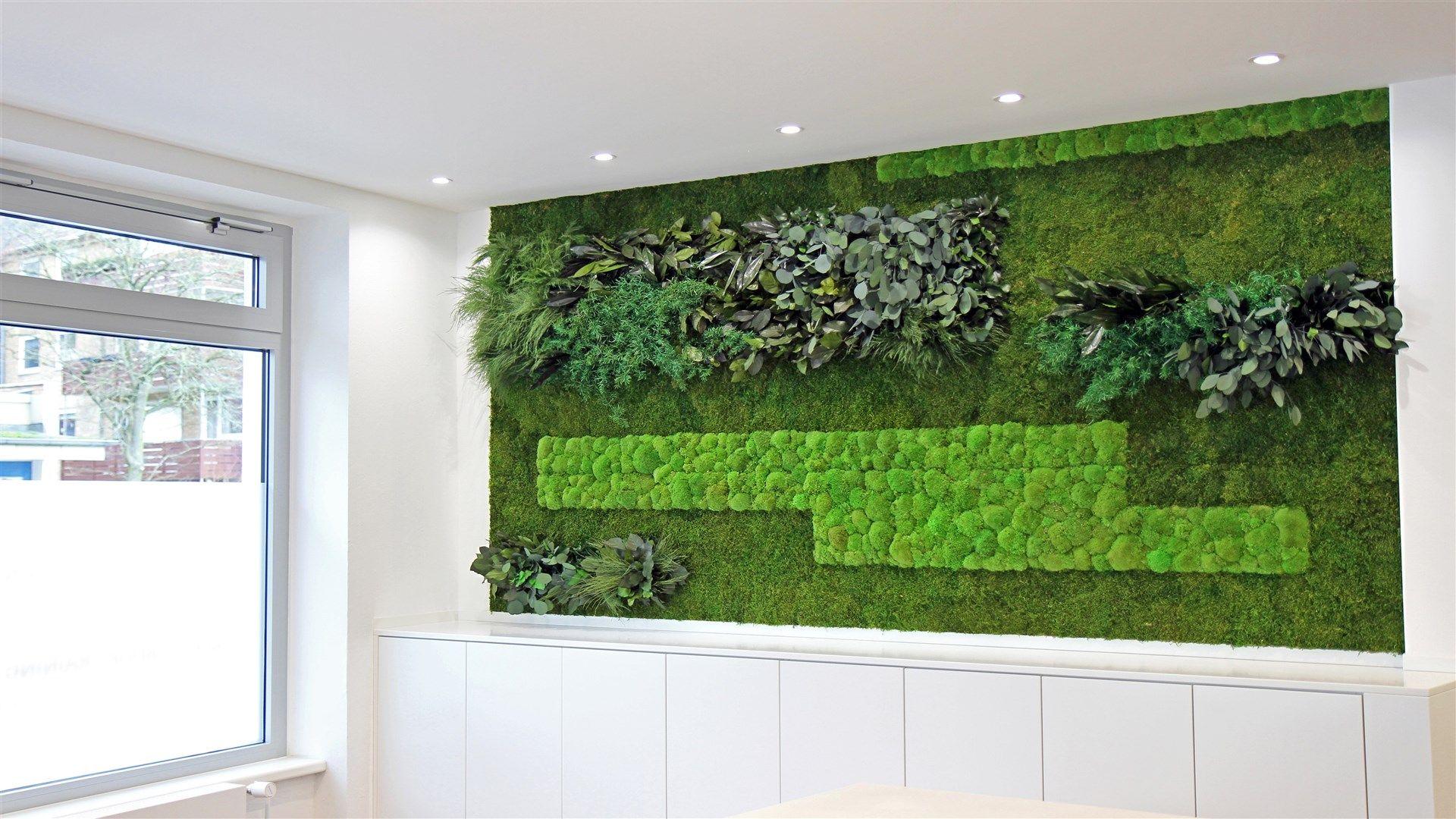 Moos-und Echtpflanzen-Bild   Raumteiler   Pinterest   Raumteiler ...