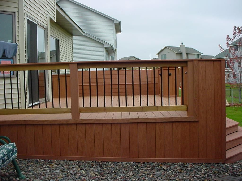 Exterior chic wooden deck with the fence and faced to the font exterior chic wooden deck with the fence and faced to the font yard deluxe exterior ideas baanklon Choice Image