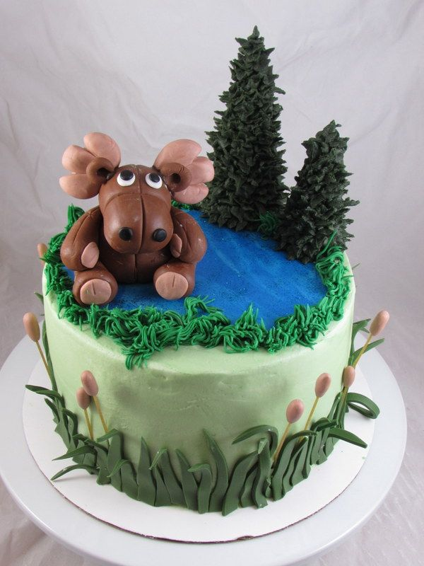Superb Moose Birthday Cake Adyns Smash Cake With Images Cake Funny Birthday Cards Online Overcheapnameinfo