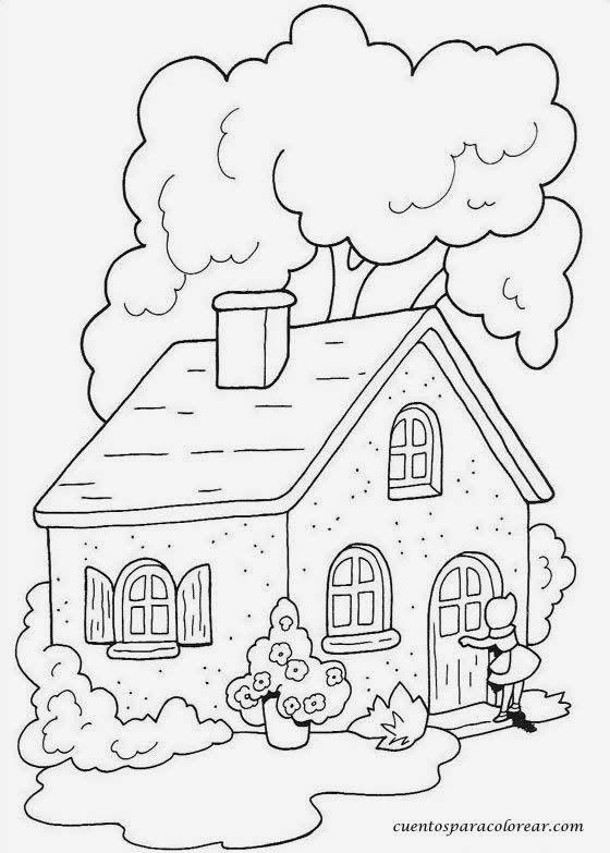 Escuela Infantil Castillo De Blanca Colorear Caperucita Roja Dibujo De Casa Halloween Para Colorear Dibujos Para Colorear