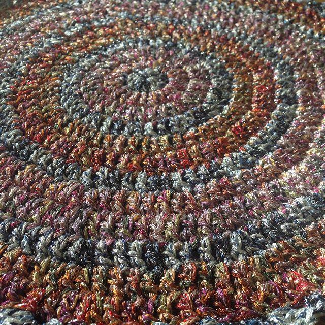 Double strand novelty yarn #crochet