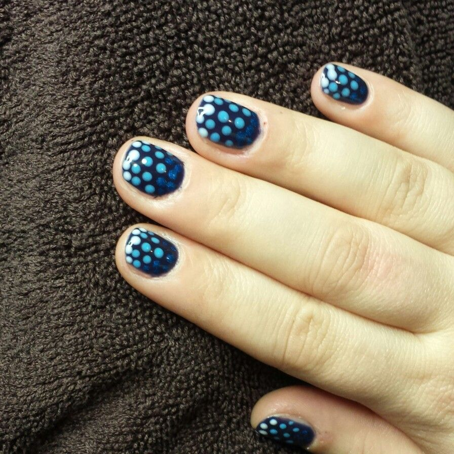 Ombre Dots Nails with OPI GelColor by Hair & Beauty Salon Jolien