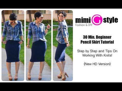 30 Minncil Skirt Tutorial W Tips On Working W Knits New Hd