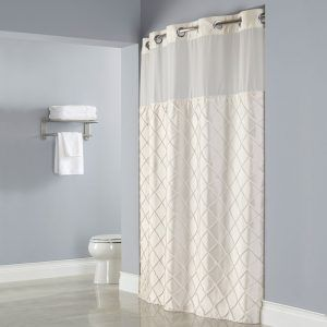 Extra Long Hookless Shower Curtain White