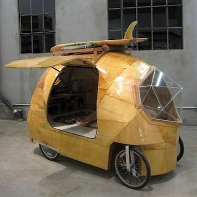 Tiny Electric Camper Made Of Plywood And Fibergl