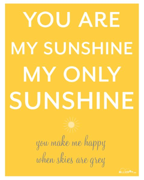 Free you are my sunshine printable {8x10 and PDF tag sheet}