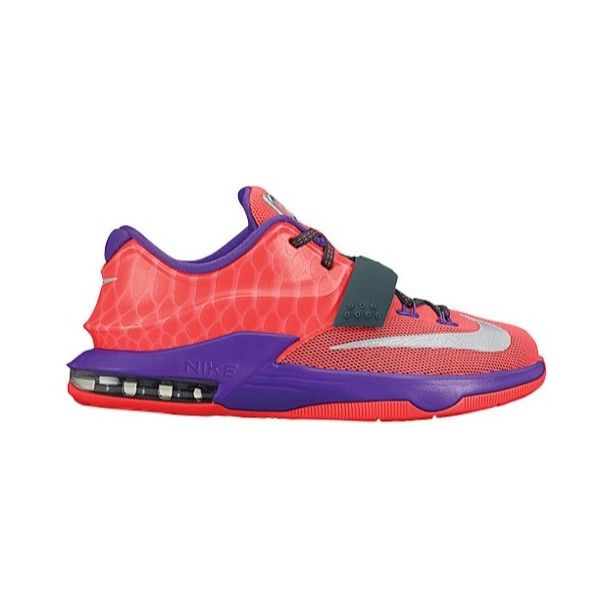 buy online 87e3a e30cd Nike KD 7 Boys  Grade School ❤ liked on Polyvore featuring shoes, nike, kd  and shoes.