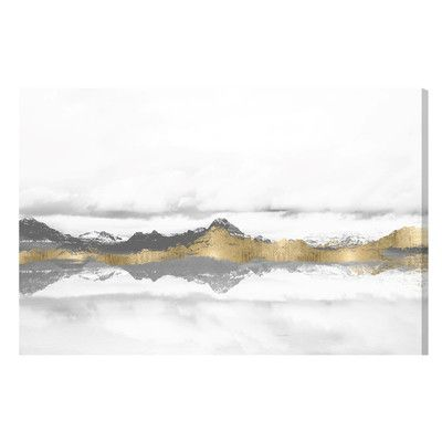 Latitude Run Stood Still and Wondered Gold Painting Print on Wrapped Canvas Size: