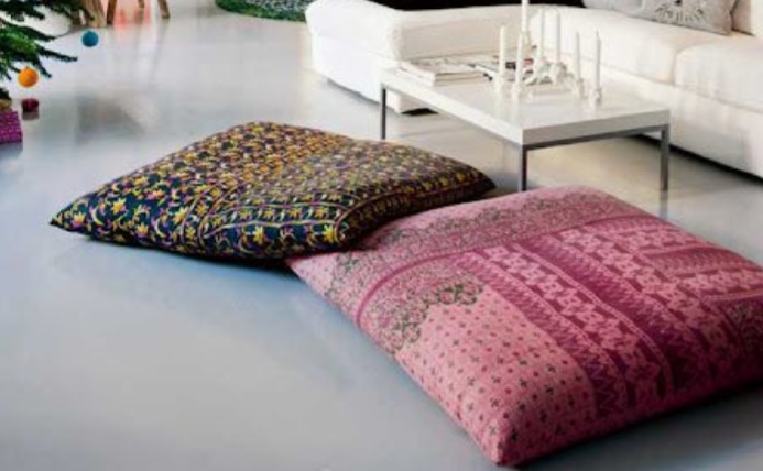 Make Your Own Large Floor Pillows : diy meditation cushion These pillows are the perfect floor cushion, large and dense with ...
