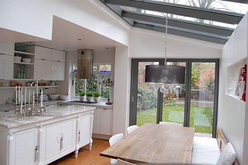 Kitchen Extension With Glass  Beautiful Things  Pinterest  Side Brilliant Kitchen Extension Design Ideas 2018