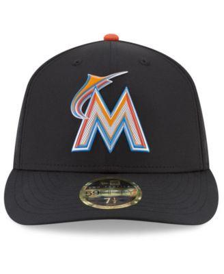 098a7348adb New Era Miami Marlins Low Profile Batting Practice Pro Lite 59FIFTY Fitted  Cap - Black 7
