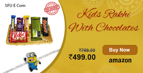 For Pre Order Kids Rakhi With Chocolates Brand Name Sfu E Com One Day Delivery At Checkout For Pre Order Rakhi Send Rakhi To India Brand Names
