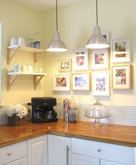 Cottage Kitchen Countertops: Cottage Kitchen With Butcher Block Counter Tops And Subway