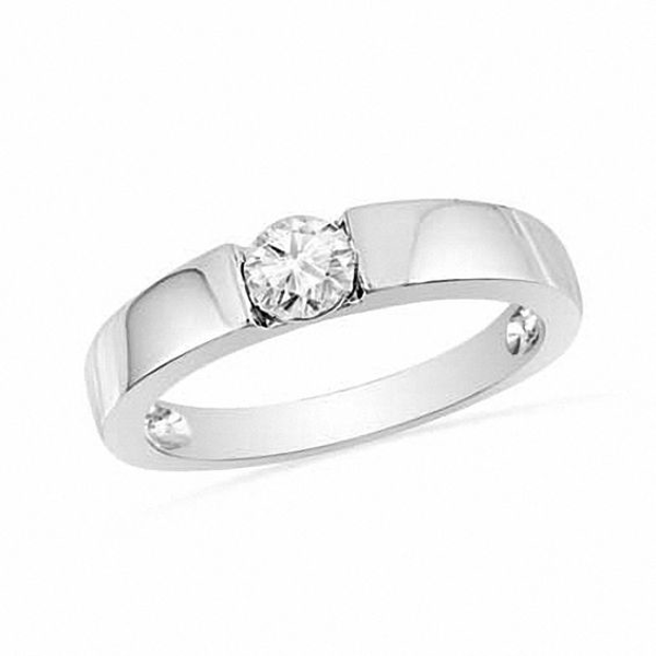 Lab Created White Sapphire Promise Ring In Sterling Silver