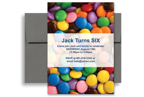 candy invitations Children Candy Party Microsoft Word Birthday - how to word a birthday invitation