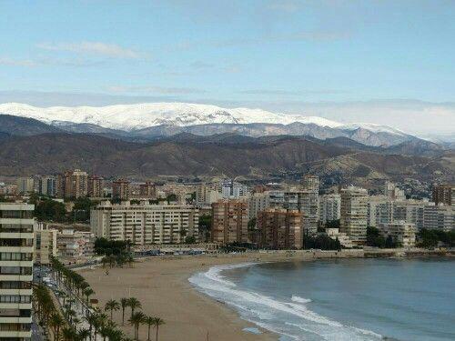Nieve en Alicante Noviembre 2013