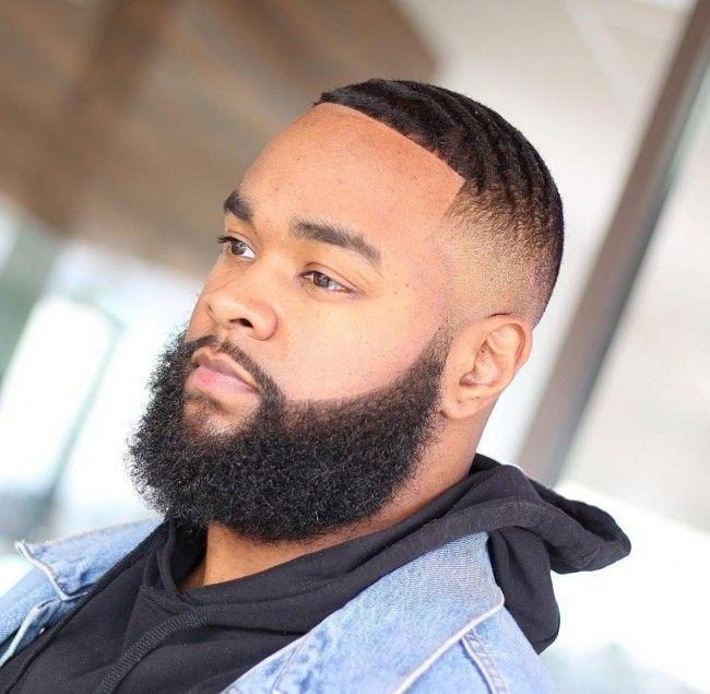 coiffure homme noir barbe