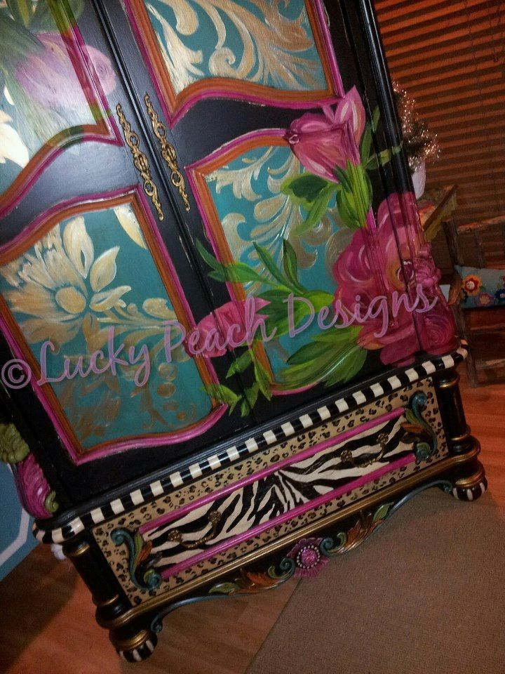 Amazing Painted Furniture By Lucky Peach Designs In Yukon OK