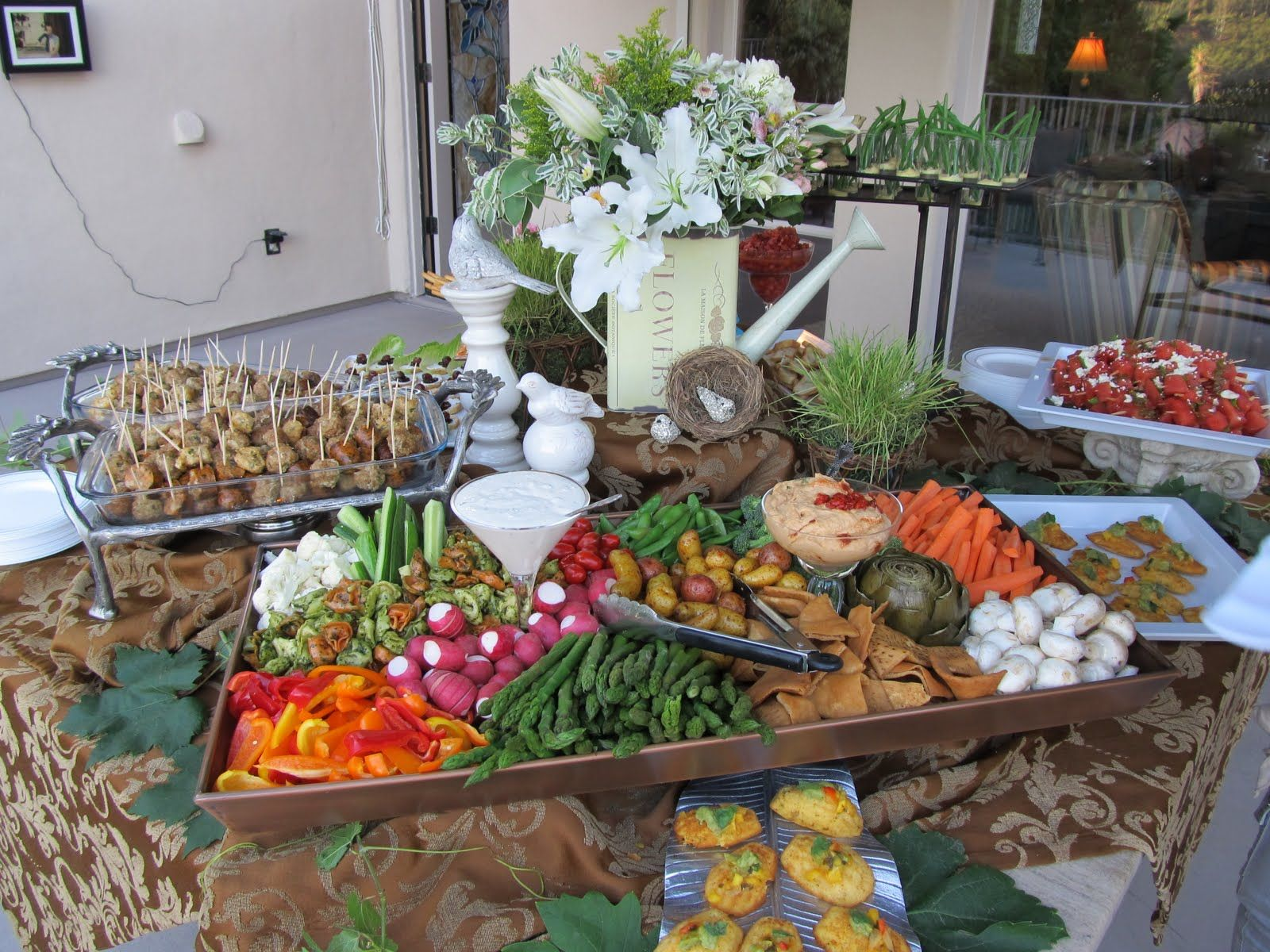 Catering display rustic vegetable tray i like the