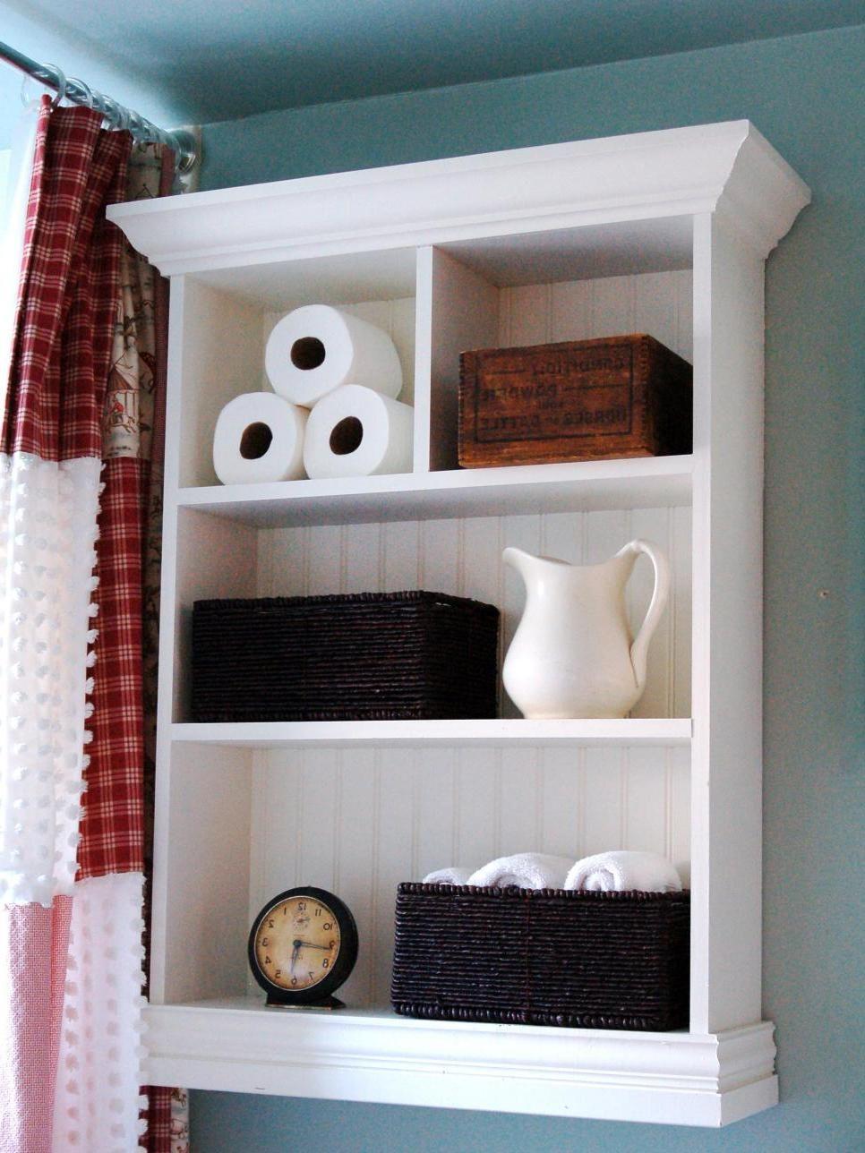 diy wall cabinet bathroom