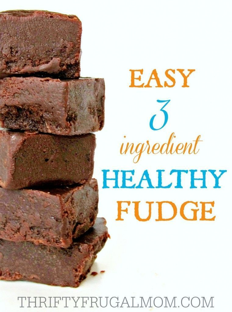 3 Ingredient Healthy Fudge Seriously, what's not to love about an easy, healthy snack like this fudge? It's made with just coconut oil, honey and cocoa powder!Seriously, what's not to love about an easy, healthy snack like this fudge? It's made with just coconut oil, honey and cocoa powder!