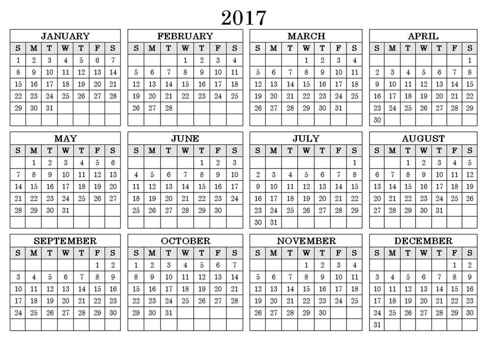 Calendar Landscape Template Free   Calendar