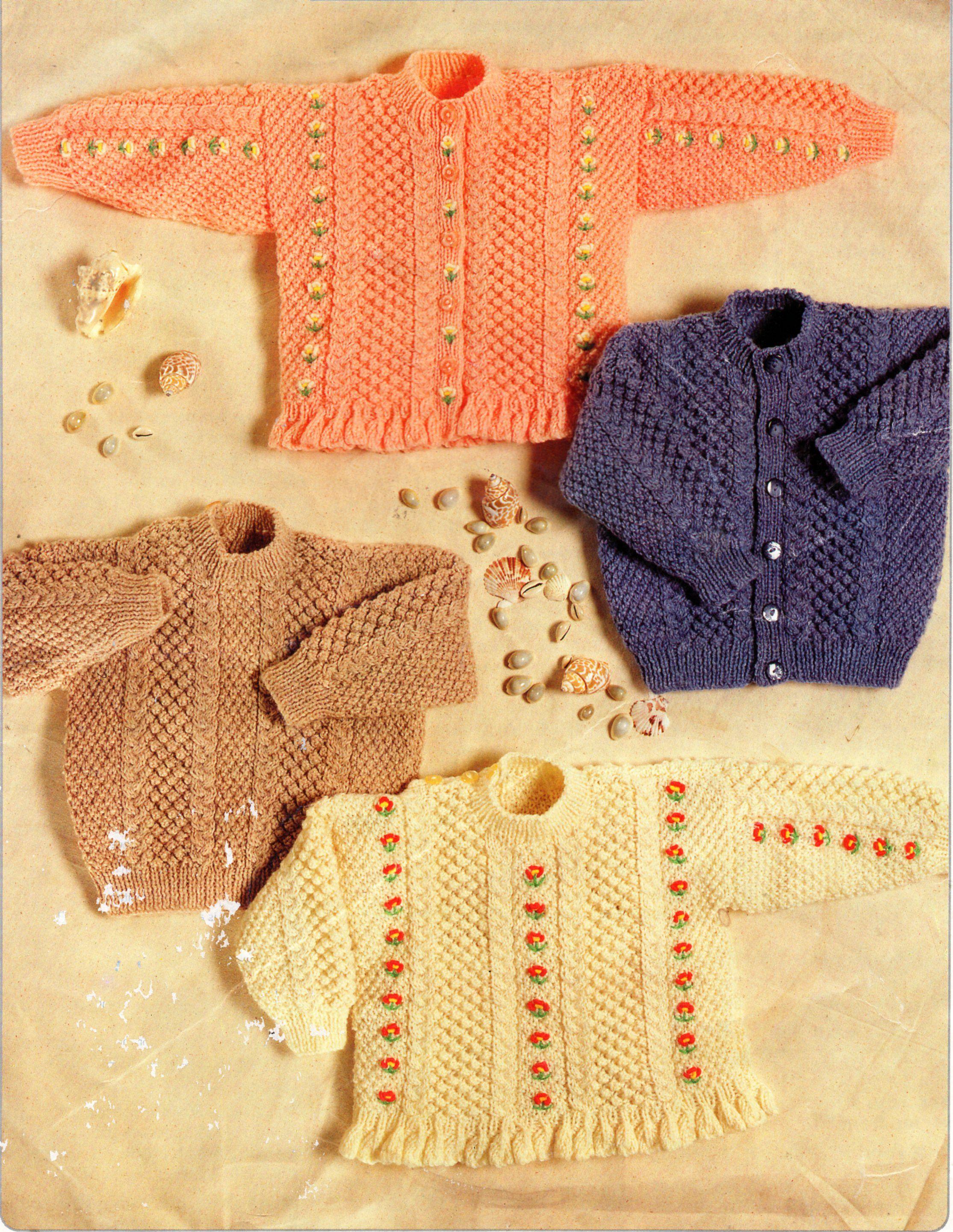 baby / childs sweaters cardigans knitting pattern pdf girls ...
