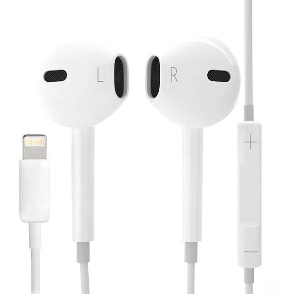 Lightning Earpods Earbuds Earphones Headset For Iphone7 Iphone7 9 38 Liked On Polyvore F Earbuds Phone Accessories Iphone Phone Accessories Samsung