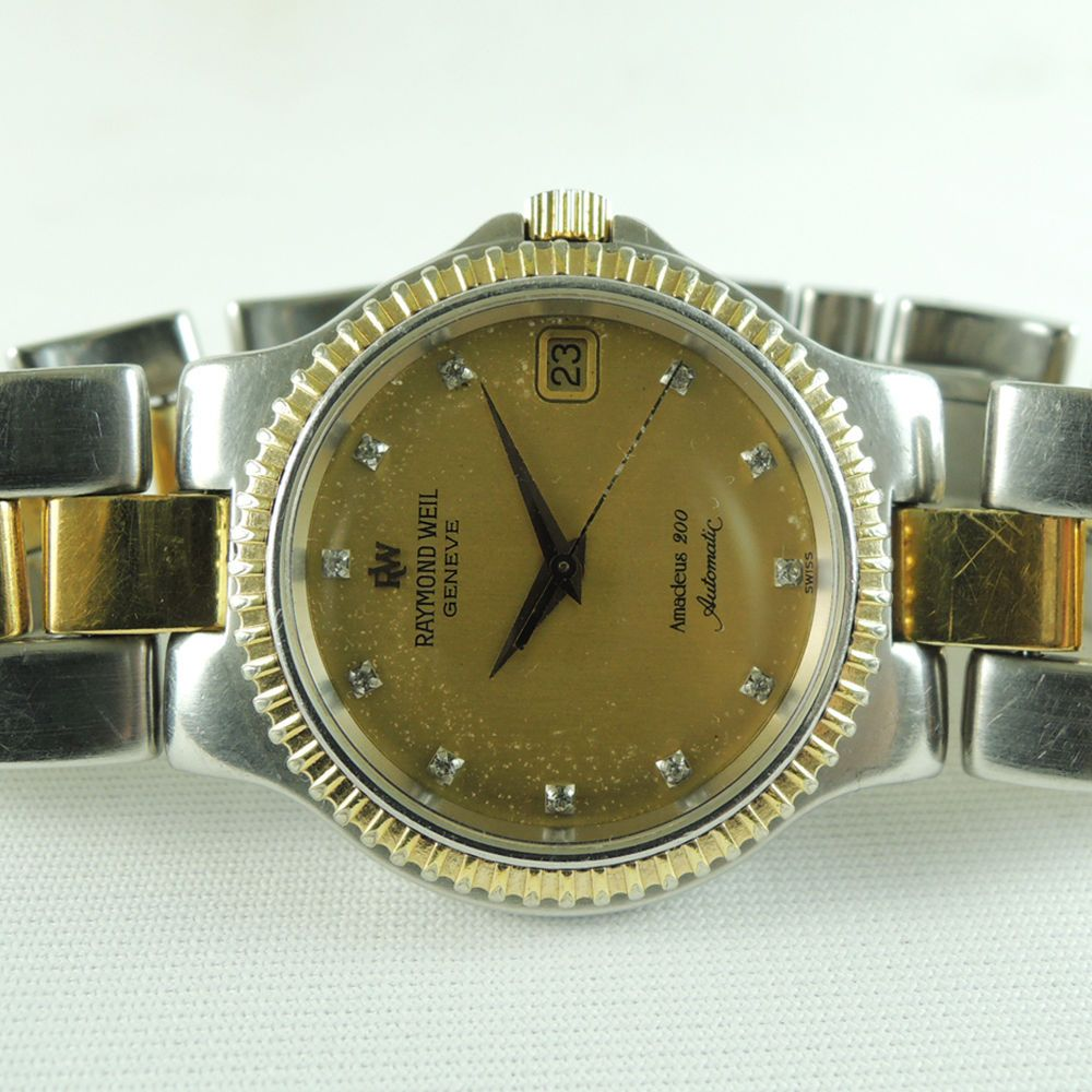 a2d8dd770 RAYMOND WEIL 2903 GENEVE AMADEUS 200 Date 18K Gold Plated Gold Dial Auto  Vintage in Jewelry & Watches, Watches, Wristwatches | eBay