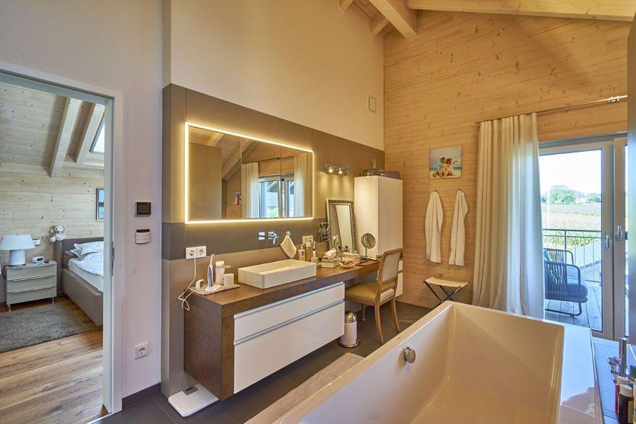 Deckenhöhe bad | house.bath. | Holzhaus, Haus und Offenes ...