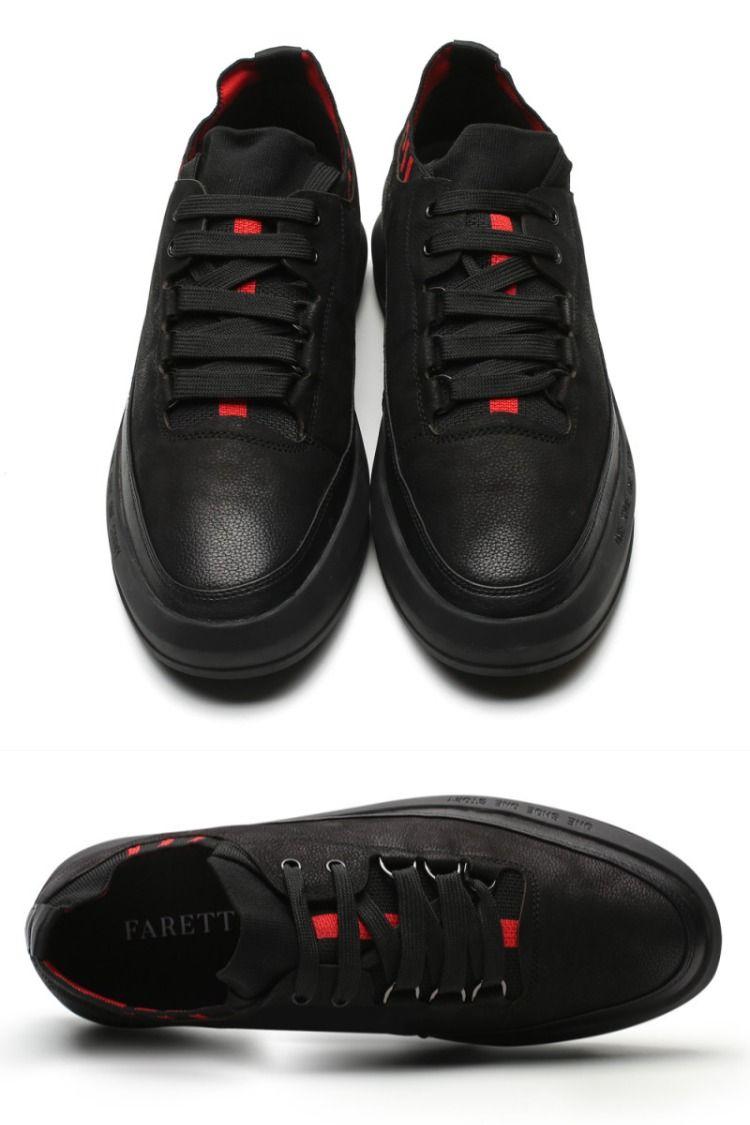 Meskie Buty Sportowo Codzienne Do Pracy Szkoly Spotkan Recznej Produkcji Skora Naturalna All Black Sneakers Shoes Sneakers