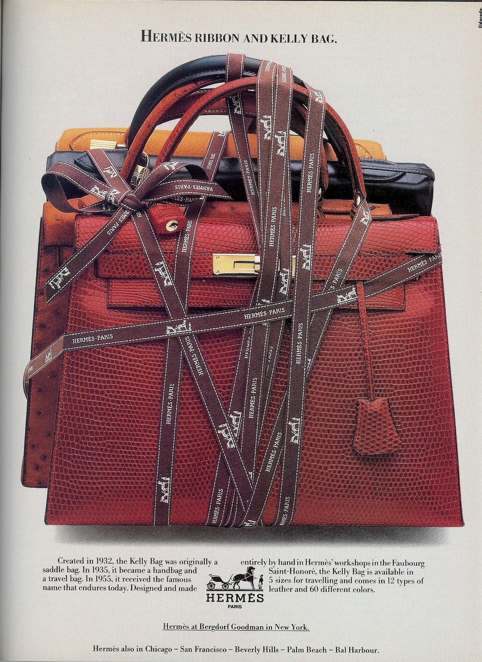8655bf045d6e Hermès Kelly Bag (1983) | 1980s Print Advertising【2019】 | Hermes ...