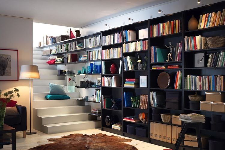 How To Use Ikea Billy Bookcases In Unusual Ways Ikea Billy Bookcase Home Library Design Ikea Bookcase