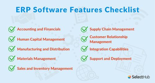 Erp Requirements Checklist And Template In 2020 Checklist Customer Relationships Supply Chain Management