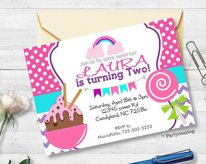 printable candyland invitation sweet candyland party ice cream scoop invitation printable birthday