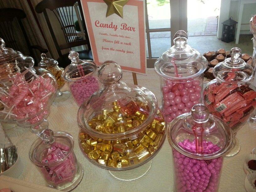 Twinkle Twinkle Little Star Baby Shower Candy Bar. Pink U0026 Gold.