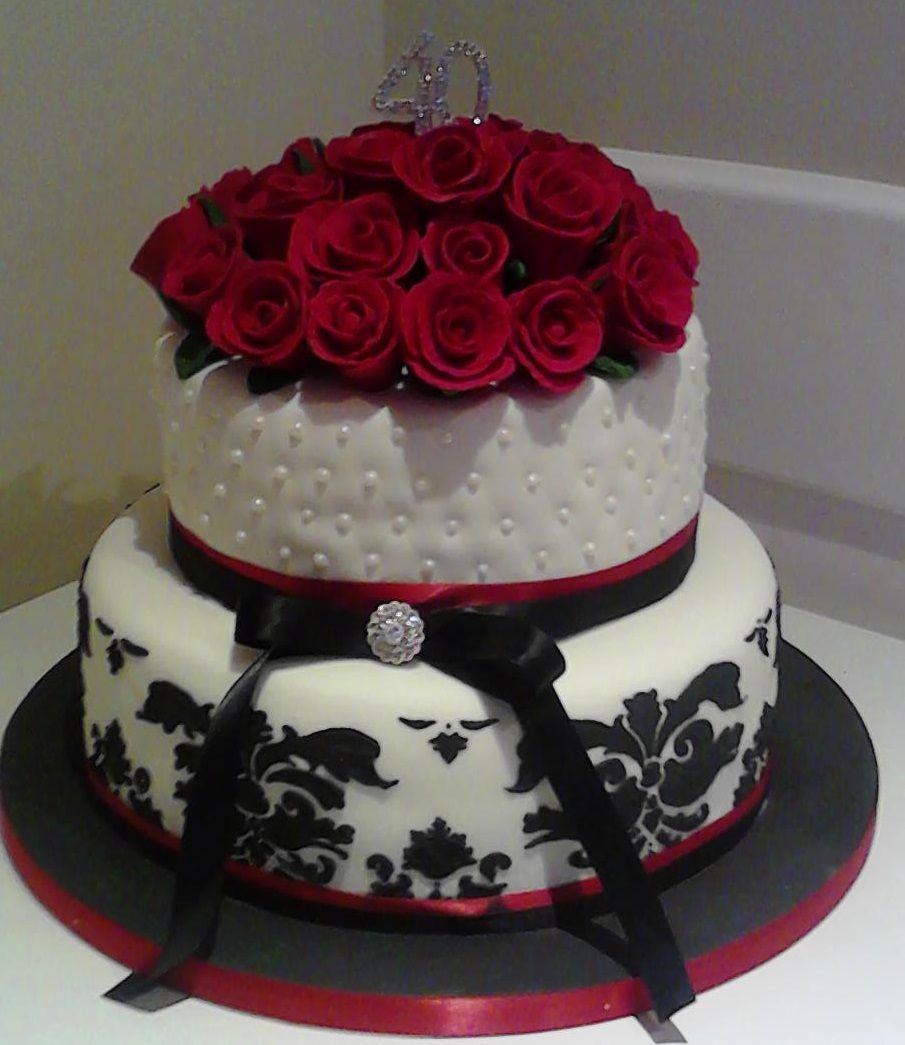 40th birthday cake elegant birthday cakes 21st birthday