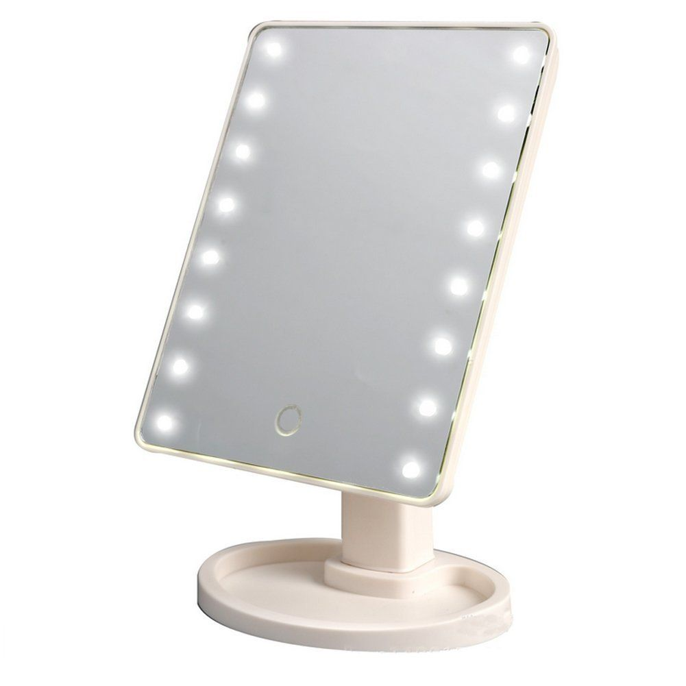 Thosdt 16 Led Smart Touch Screen Portable Tabletop Lighted Cosmetic Vanity Makeup Mirror White Check Out The Image By V Cosmetic Mirror Makeup Mirror Mirror