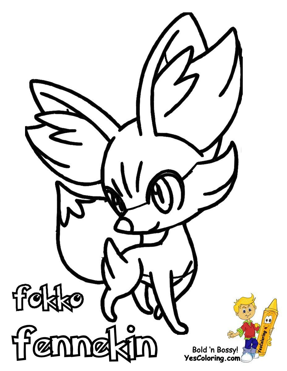 Pokemon Fennekin Coloring Pages Pokemon Coloring Pages Cartoon