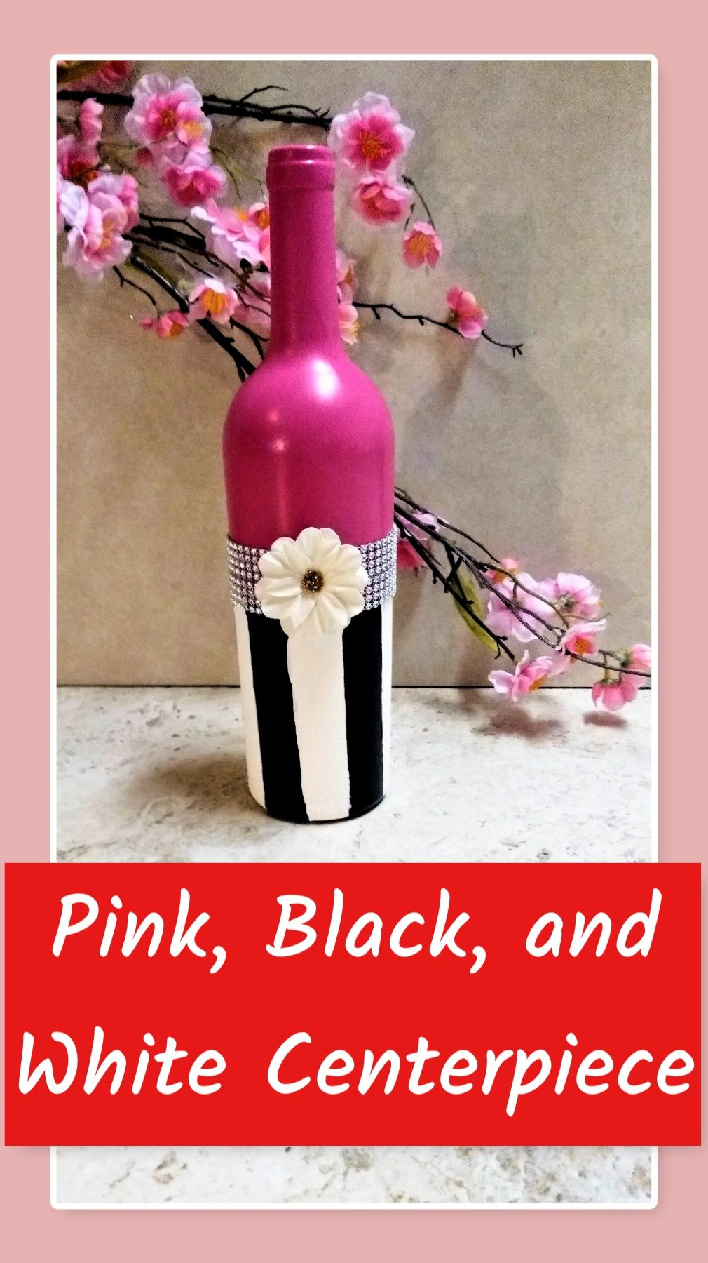 Jazzy And Sassy Decor With This Girly Girl S Decor From Birthday Parties Or Baby Showers Baby Shower Centerpieces Baby Shower Decorations Painted Wine Bottles