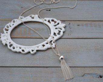 Locket necklace sterling silver locket silver by Bellabagu