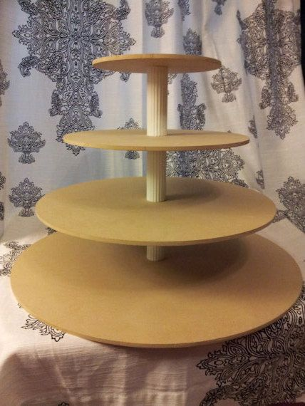 Diy Large Round 4 Tier Cupcake Stand Cake Stand Tower Custom Make