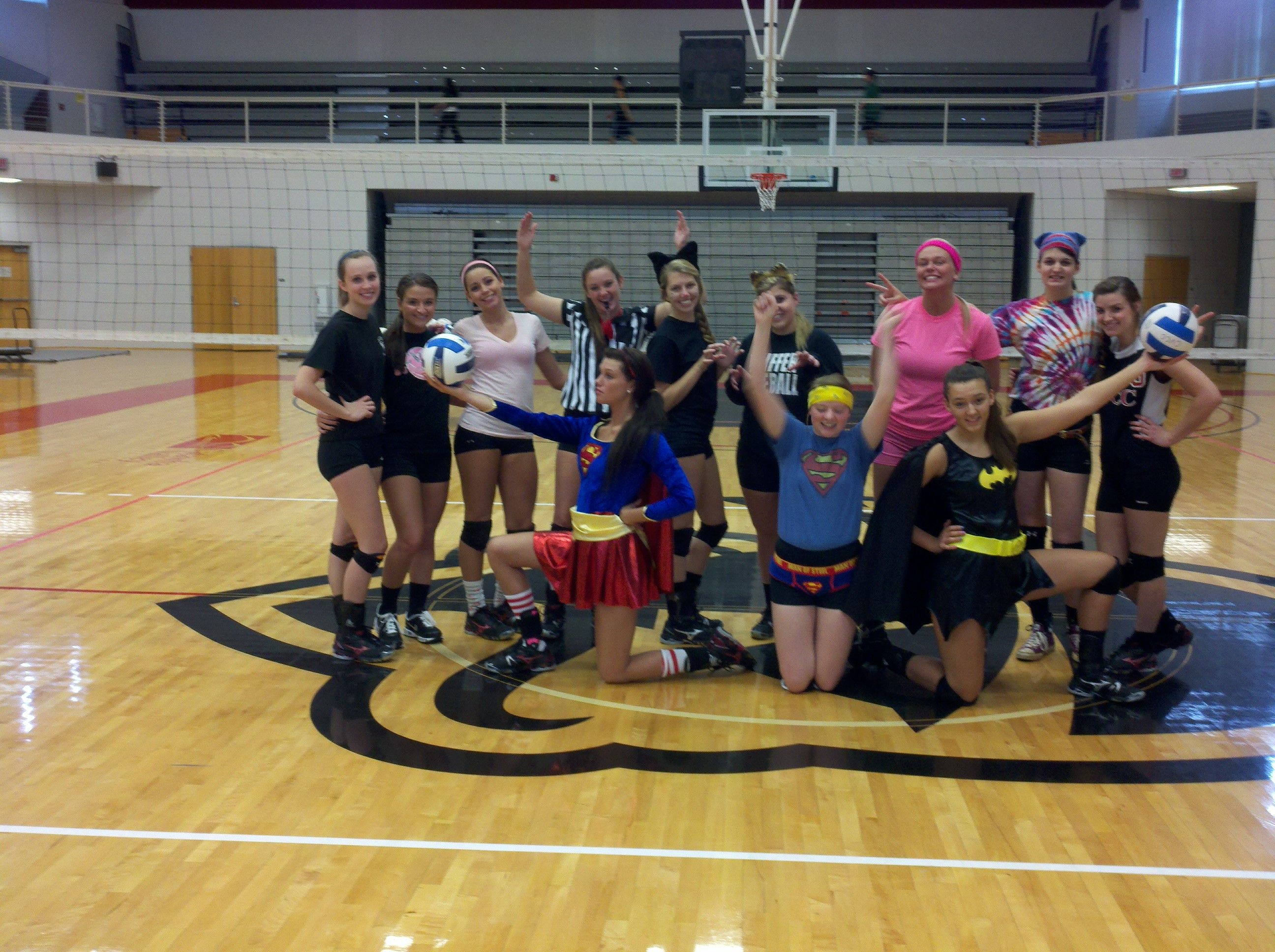 Cvcc This Is What Happens When You Practice On Halloween Volleyball Basketball Court Players