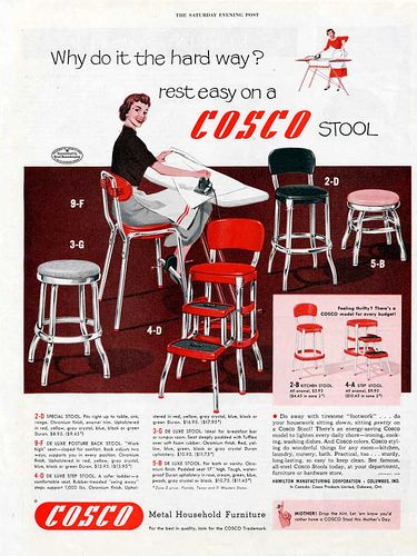 Cosco Stool Ad Cosco Carts Pinterest Stools Pyrex
