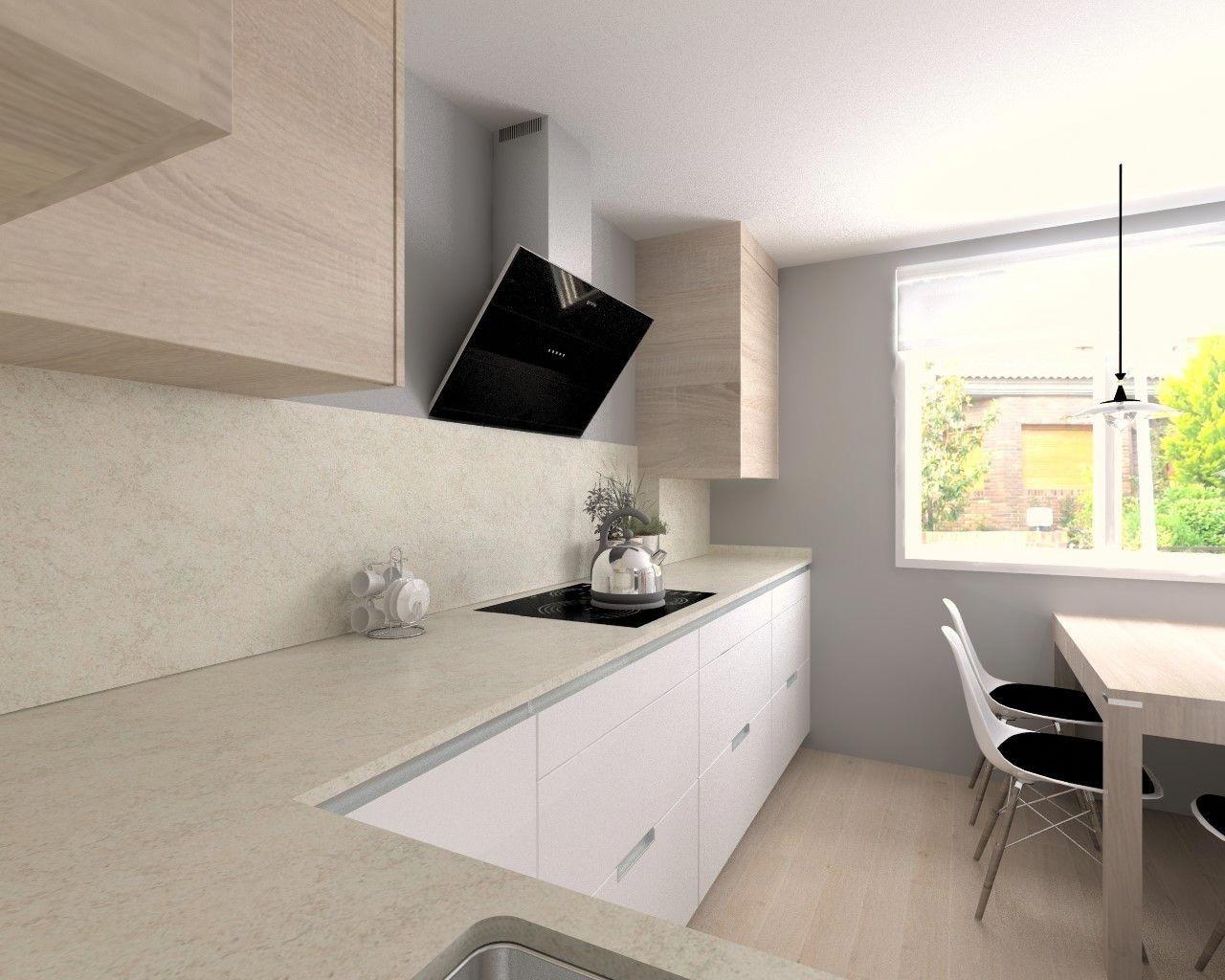 Cocina Santos Modelo Minos L Blanco Seda Encimera Granito Perla Venata Cocinasestrechas Home Decor Kitchen Projects Bathroom Vanity