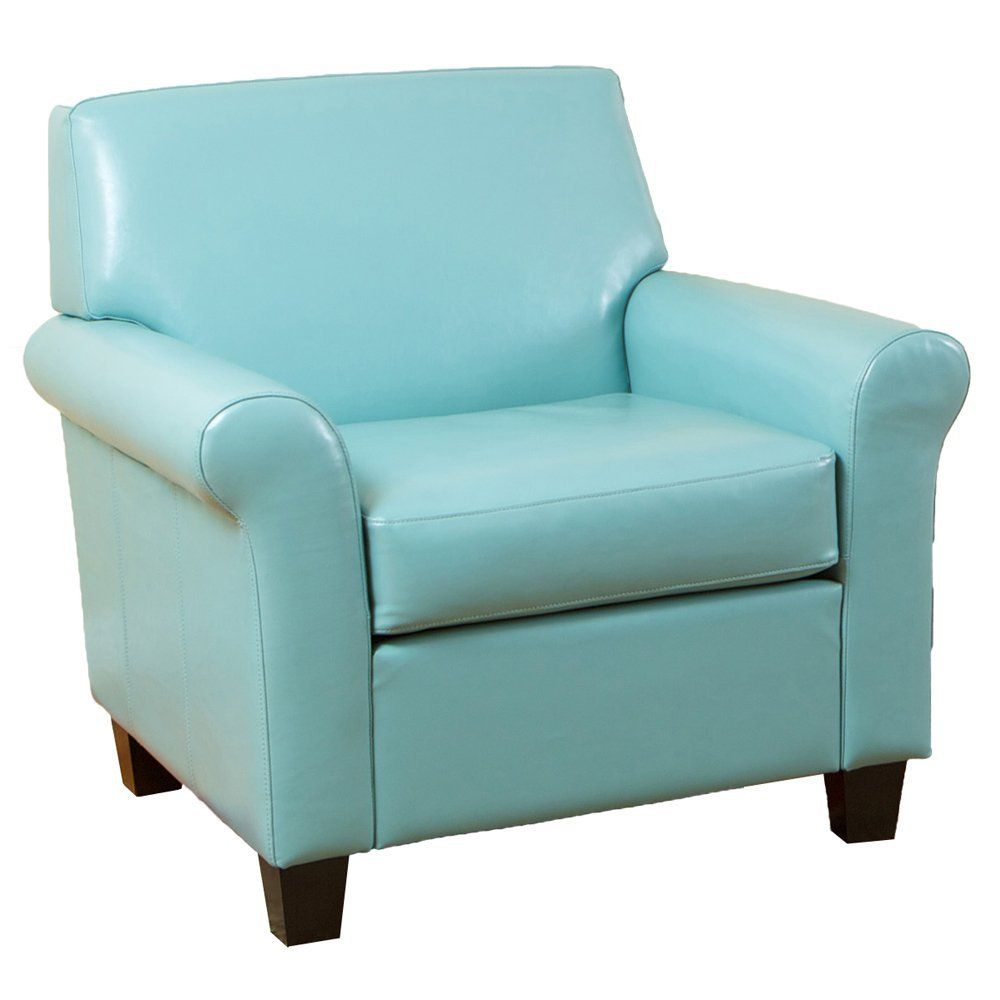 Amazon.com: Best Selling Modern Club Chair, Teal Blue: Kitchen ...